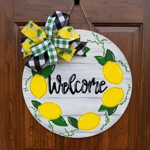 Lemon Door Hanger Porch Patio Deck Kitchen Decor